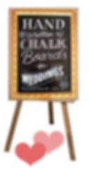Wedding chalkboard and Easel