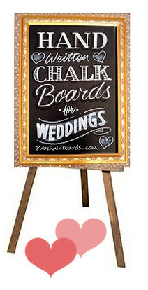 Wedding chalkboard and Easel