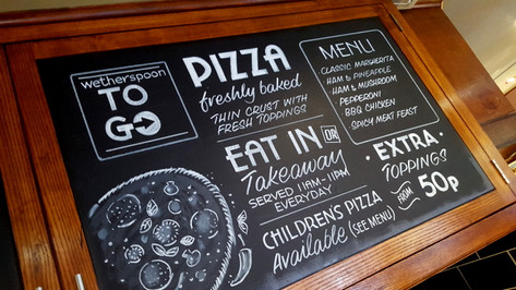 Pizza chalkboard