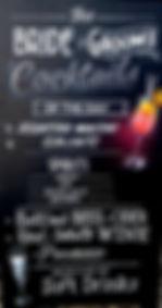 Wedding cocktail chalkboard