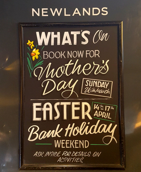 Mother's Day and Easter chalkboard