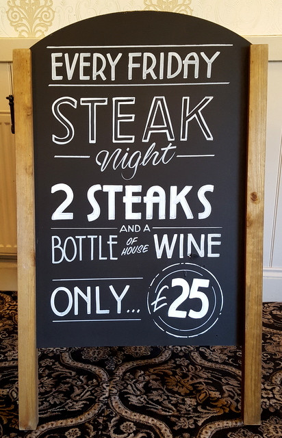 Steak and Wine chalk art