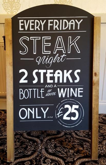 Steak and Wine chalk art