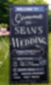 Gemma and Sean's wedding chalkboard