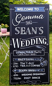 Gemma and Sean's wedding chalkboard