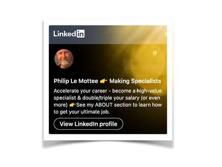 Follow my LinkedIn profile