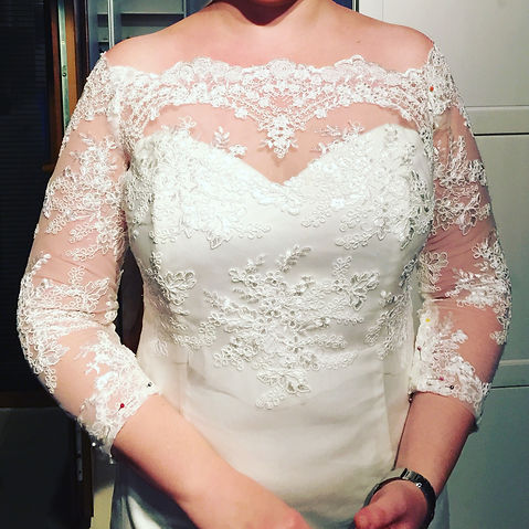 lace wedding dress, bespoke bridal wear in Oxfordshire