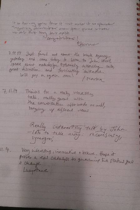 Comments Book page 6a
