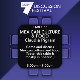 TABLE 11 Mexican Culture and Food F