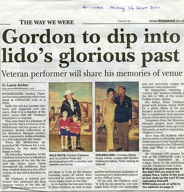 GORDON CLARKSON DISCUSSED 'THE LIDO'S LAST SEASON'