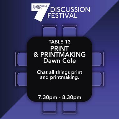 Table 13 Print and Printmaking
