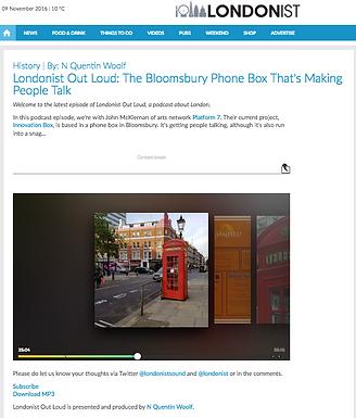Platform-7 is Londonist Out Loud Podcast Guest
