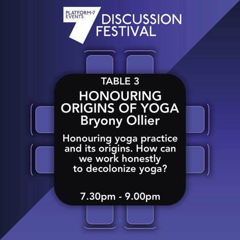 TABLE 3 Honouring The Origins of Yoga
