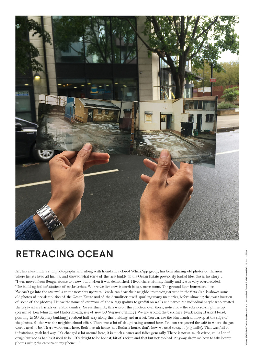 AK has a keen interest in photography and, along with friends in a closed WhatsApp group, has been sharing old photos of the area where he has lived all his life, and showed what some of the new builds on the Ocean Estate previously looked like, this is his story...