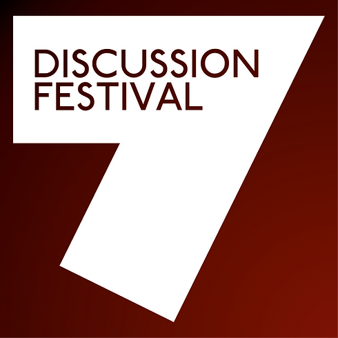 P7E DF Discussion Festival 7 Square Logo