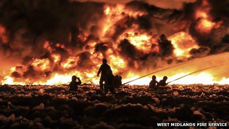 Smethwick Recycle Plant Fire. Source BBCNews website.jpg