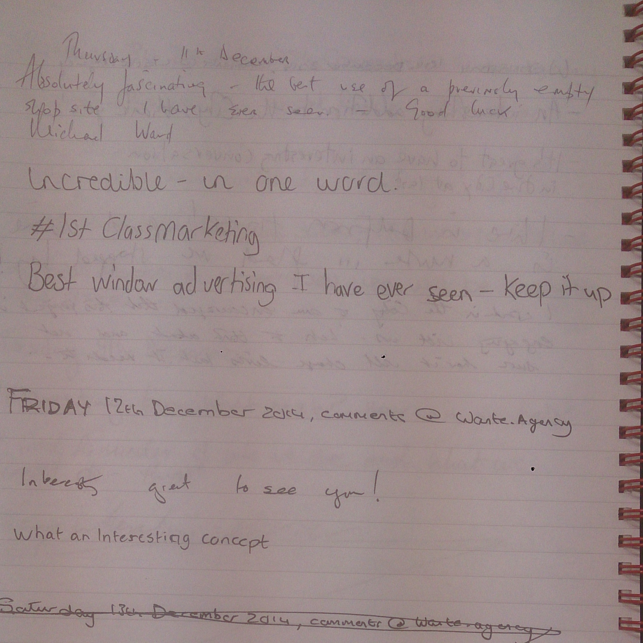 Comments Book Page 24