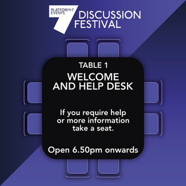 TABLE 1: Welcome Table