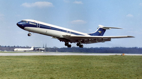 Super VC10 taking off from Wisley