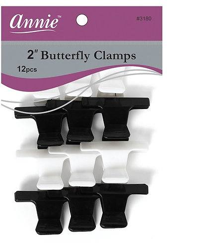 "Annie Butterfly Clamps 2"" 12ct #03180"