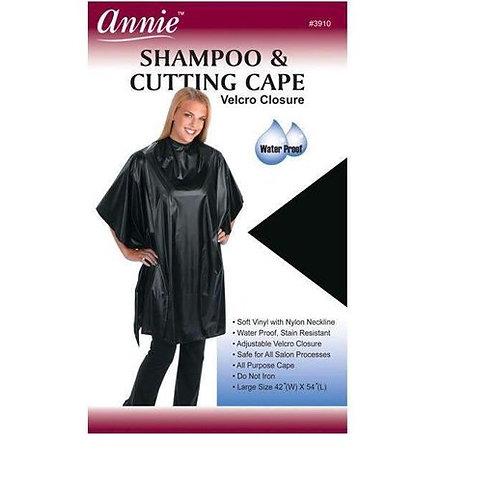 Annie Shampoo Cape #3913 - Black