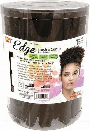 BT EDGE BRUSH & COMB - BOAR BRISTLE- BLACK