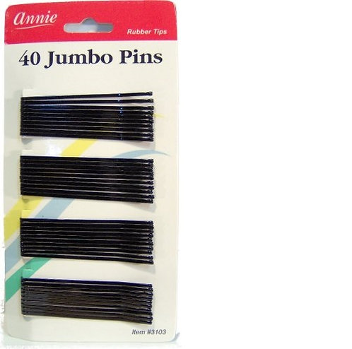 Annie 40 Jumbo Pins Black 3103