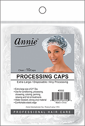 Annie Processing Caps Clear X-Large (10 Pack)
