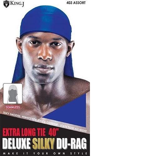 "King J Extra Long Tie 40"" Deluxe Silky Du-Rag - #403 Assorted"