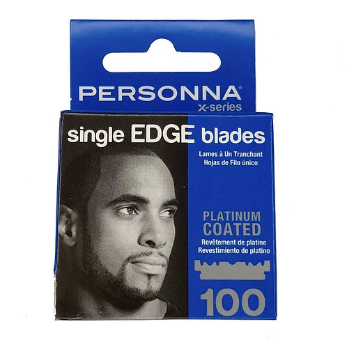 Personna X Series Single Edge Platinum Coated Blades 100 Ct