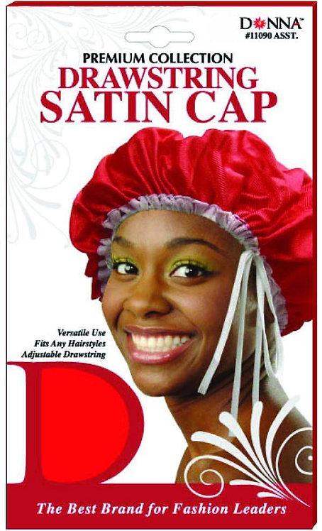 Donna Drawsting Satin Cap #11090