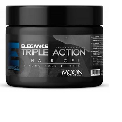 Elegance Triple Action Styling Hair Gel (Moon) 8.8 oz jar