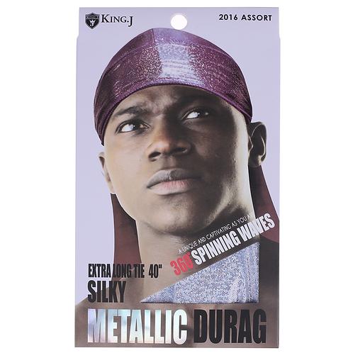 King J Metallic Du-Rag
