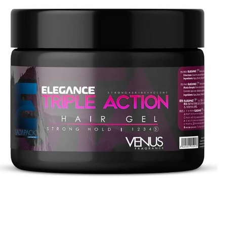 Elegance Triple Action Styling Hair Gel (Venus) 8.8 oz jar