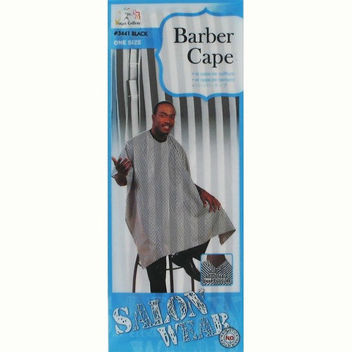 M&M Salonwear Barber Cape (Striped)