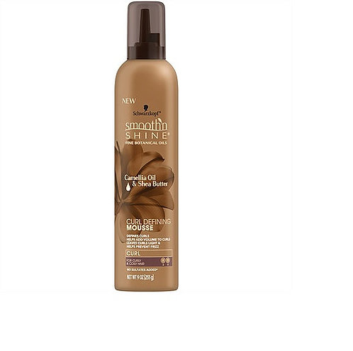 Smooth 'N Shine Camellia Oil & Shea Butter Curl Defining Mousse 9oz