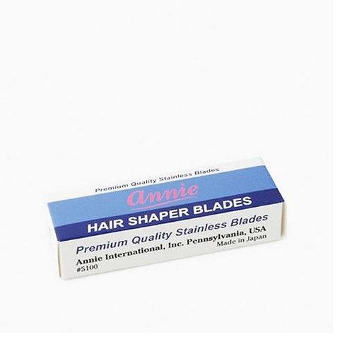 Annie 5 Pcs Premium Quality Stainless Hair Shaper Blades #5100