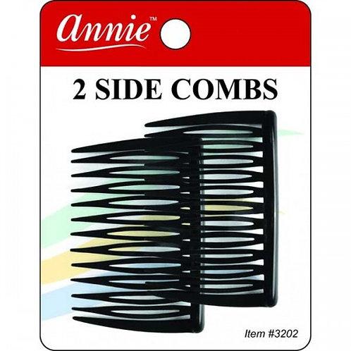 Annie 2 Side Combs Black