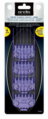 ANDIS MASTER MAGNETIC COMB SET LARGE 4PK #01415