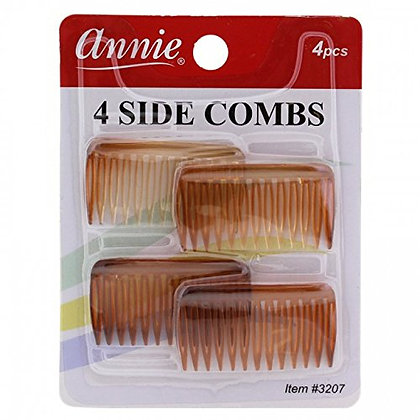 Annie 4 Side Combs Assorted