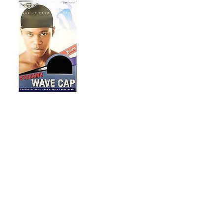 KING J Head Gear Stocking Wave-Cap 2pcs (Asst)