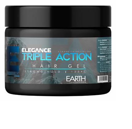 Elegance Triple Action Styling Hair Gel (Earth) 8.8 oz jar