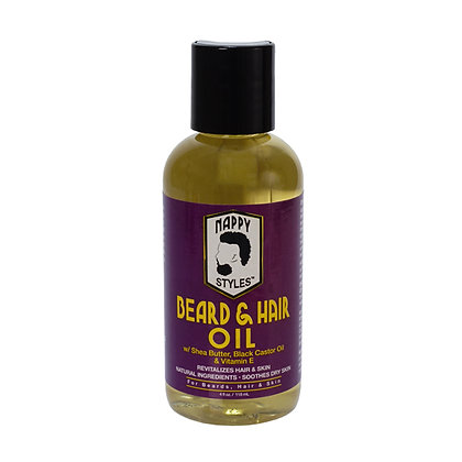 Nappy Styles Beard & Hair Oil 4oz.