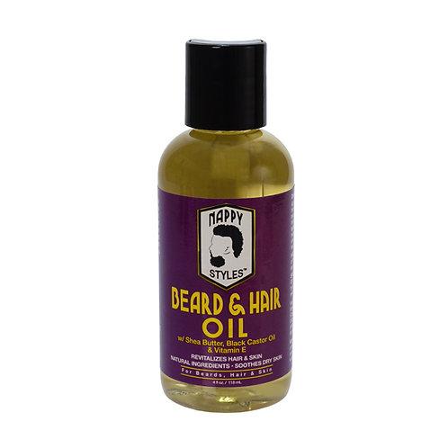 Nappy Styles Beard & Hair Oil 4oz.