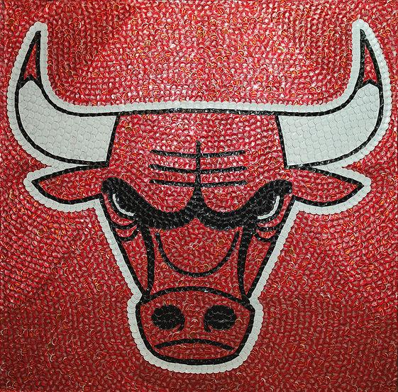Chicago Bulls Bottle Cap Mosaic