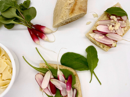 Radish Sandwich with Butter and Salt