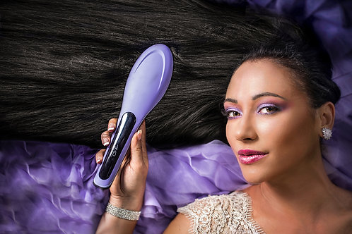 All NEW V.2 TNS Professional Hair Straightening Brush Purple
