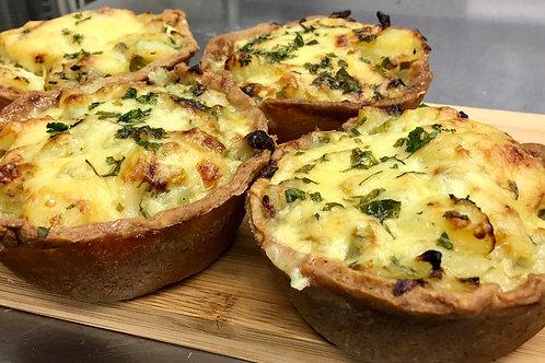 Homity Pies - Cheese, potatoes, onions, garlic, fresh parsley x 2
