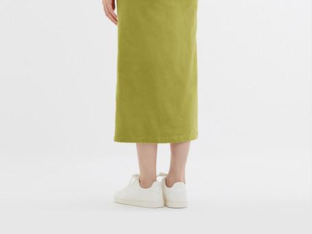 選んでいただいたスカートが宝石のように見えます