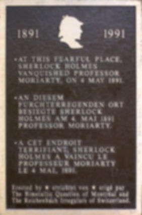Sherlock Holmes plaque image